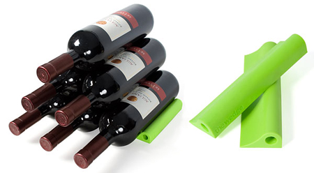 Wedge wine rack