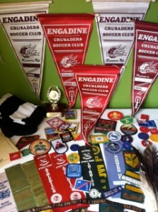 Wow!  These sporting pennants, footy socks (or are they soccer?!) are really personal items. Would you relinquish items like these to save a life?