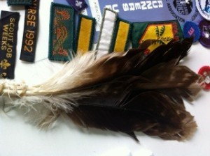 A neat bundle of feathers.  I wonder what their history is.
