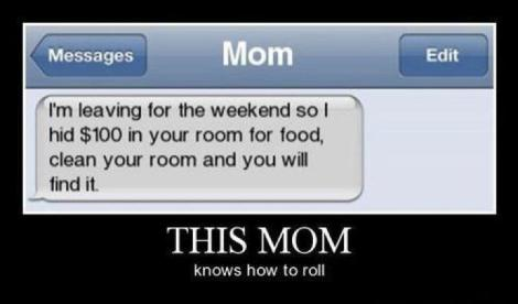 This mom knows how to roll