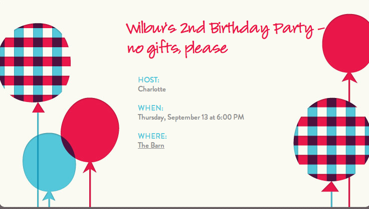 No gift birthday parties making them work sample invitation created in evite stopboris Choice Image