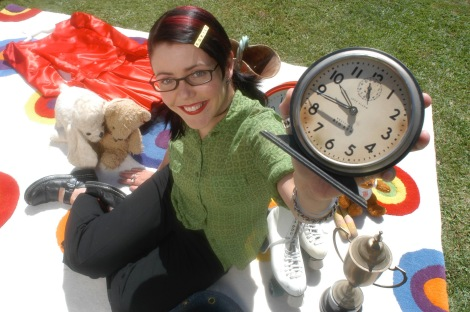 My first presenting gig on Your Life on the Lawn, Grundy TV (2002)